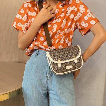 雅诗罗韩版新款斜挎小包包单肩包百搭女包