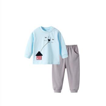 舒贝怡 婴儿内衣套装宝宝卡通睡衣秋