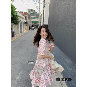张大奕白色吊带连衣裙超仙甜美小个子收腰显瘦长裙