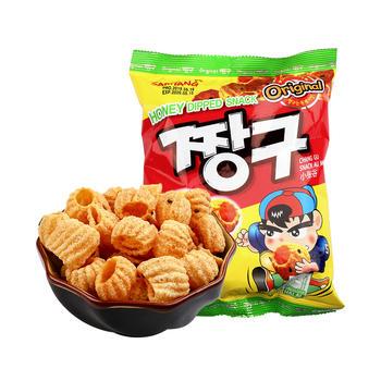 韩国进口三养SAMYANG蜂蜜味圈圈脆休闲零食小张谷115g包