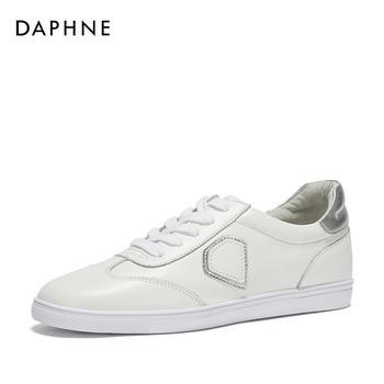 Daphne/达芙妮春季单鞋女舒适平底小白鞋1018101027