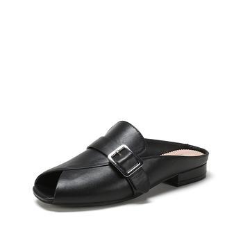 Daphne/达芙妮金属扣件简约低跟穆勒鞋单鞋女1718202024