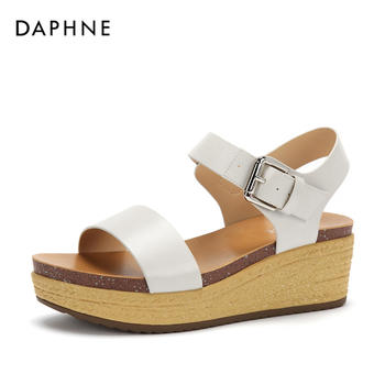 Daphne/达芙妮纯色皮带扣时尚休闲凉鞋女1018303146