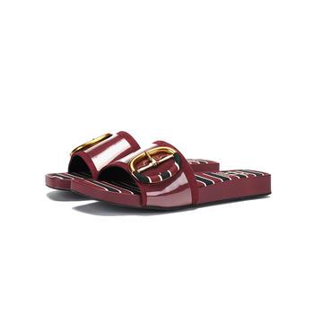 SHOEBOX/鞋柜一字拖外穿平底休闲简约凉拖鞋1018303824