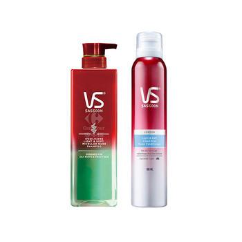 沙宣轻润裸感0硅油洗发水500ml+护发素 油性发质