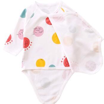 谷斐尔宝宝双层护肚哈衣长袖爬服婴幼儿长袖无骨哈衣