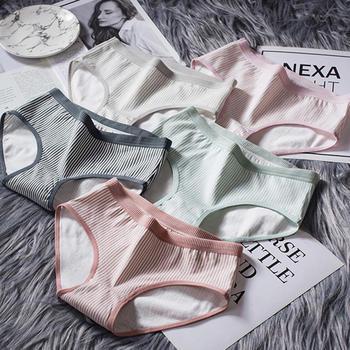 赛棉 5条装新款95%纯棉档中腰性感女士内裤孤芳自赏