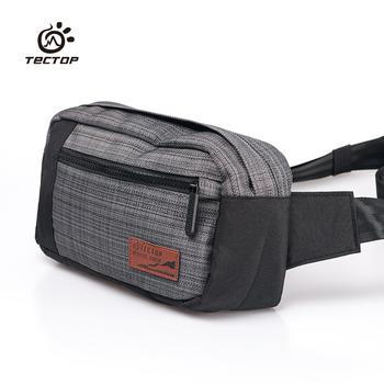 探拓 户外运动腰包手机包跑步健身帆布包横款多功能