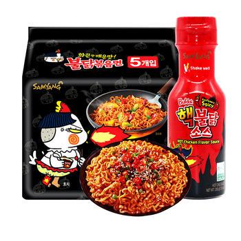 韩国三养超辣鸡肉味火鸡面拌面方便面双倍核弹火鸡酱