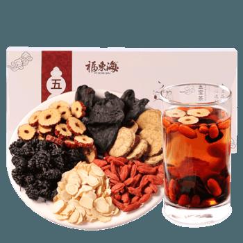 福东海人参五宝茶枸杞红枣人参桑椹组合花茶养生茶