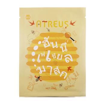 泰国 atreus燕窝蜂蜜蚕丝面膜补水保湿紧致修复提亮10片