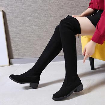 Tatyana秋季新款过膝长靴女网红弹力瘦瘦靴