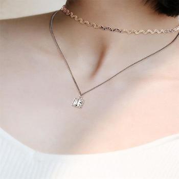 CROCUS时尚个性百搭双层女士气质choker颈链项饰项链61178