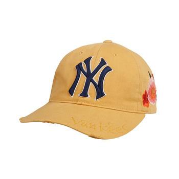 MLB棒球帽花朵刺绣户外防晒可调节棒球帽