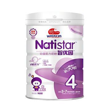 明一奶粉智优园4段儿童配方奶粉3-7岁儿童奶粉900g罐装