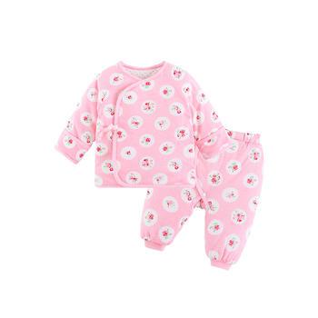 宝然新生儿棉袄套装绑带和尚服幼儿服装初生婴儿夹棉