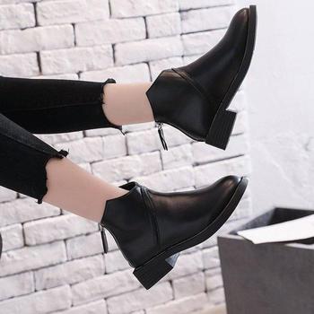 短靴女秋冬新款复古chic网红小跟踝靴英伦风韩版学生