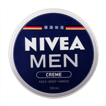 Nivea/妮维雅男士润肤霜150ml深层滋润保湿补水清爽自在