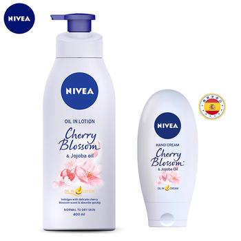 妮维雅樱花香氛搭配使用呵护加倍 滋养肌肤 精油呵护