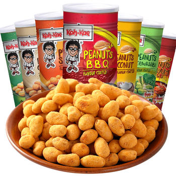 泰国进口零食大哥香脆花生豆230g罐装