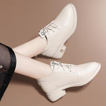 马丁靴女英伦风加绒百搭粗跟短靴