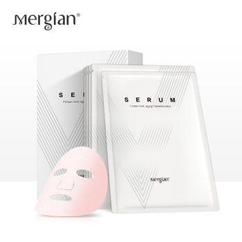Mergian/美肌颜羊胎素血清蛋白焕肤塑颜面膜5片