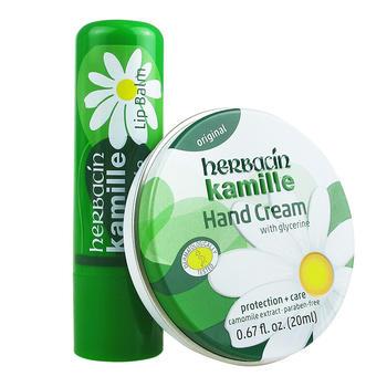 Herbacin德国小甘菊 修护唇膏4.8g+经典护手霜20ml