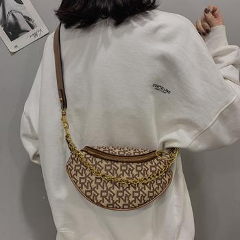 麦尔本网红胸包新款韩版百搭宽带单肩斜挎包时尚腰包