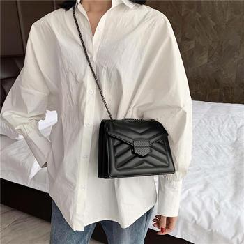 麦尔本包包女2019新款韩版时尚大气链条单肩包ins女包