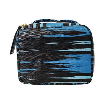 雅诗兰黛蓝色手提化妆包 简约便携大容量手提包女包