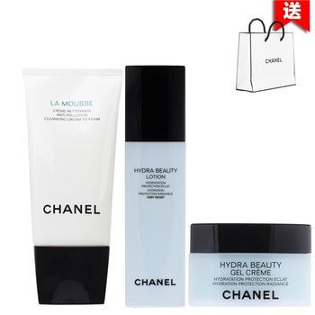 Chanel香奈儿山茶花护肤化妆品套装补水保湿 三件套装 (干性肌肤)