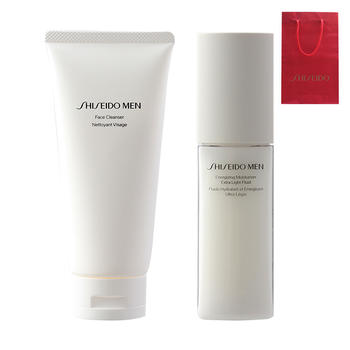 Shiseido资生堂 男士护肤二件套装(洗面奶+乳液)送礼袋