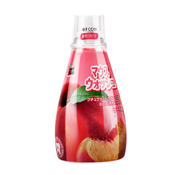 日本进口德露宝 儿童漱口水(水蜜桃味) 340mL 防蛀可吞咽
