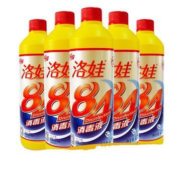洛娃84消毒液家用杀菌470ml家庭装漂白衣物洗衣消毒水