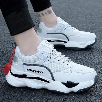 跨洋情侣款新品透气跑步鞋防滑运动鞋