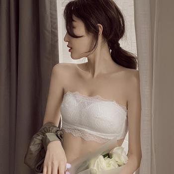维妮芳 无肩带文胸聚拢防滑抹胸式美背蕾丝无钢圈大胸显小内衣