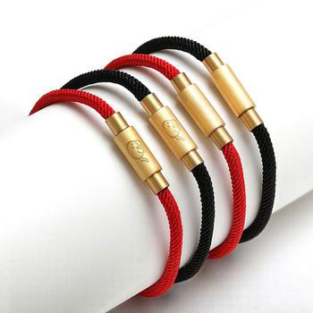阿梵尼 本命年转运珠专用皮绳手链  生肖鼠图案