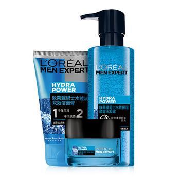 欧莱雅男士水能玻尿酸高保湿护肤套装,长效保湿