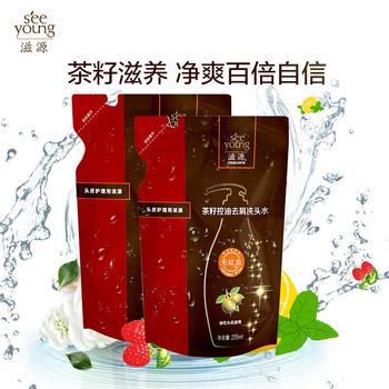 滋源 茶籽控油去屑洗发水235ml,温和去屑