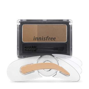 双色塑形眉粉印章套盒 帮助轻松打造自然眉妆的双色塑形眉粉