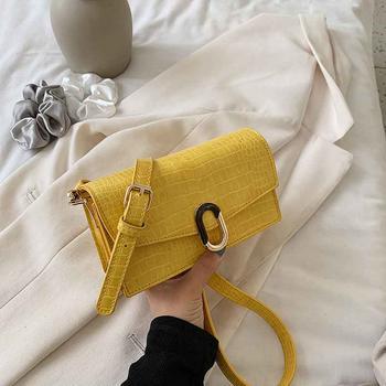 麦尔本小包包女包 新款潮时尚韩版网红质感休闲鳄鱼纹链条斜挎包