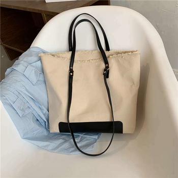 麦尔本大容量包包女百搭气质韩国新款软面休闲托特简约小众单肩包