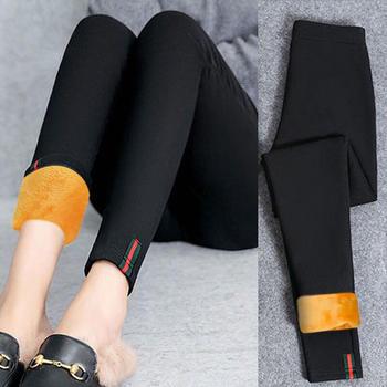 女裤休闲裤打底裤外穿小脚铅笔女裤黑色秋冬保暖裤