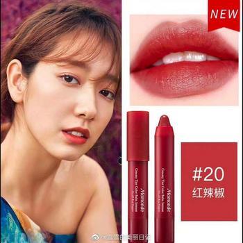Mamonde韩国梦妆花心绒唇膏笔2.5g 20#红辣椒