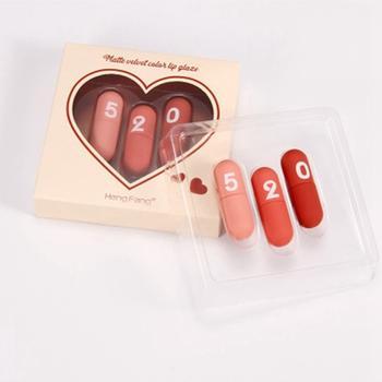 情人节礼物520迷你胶囊丝绒唇釉套盒3支装套装唇釉