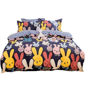 荻嘉茂 全棉床品床单被套四件套 酷仔兔 多花型