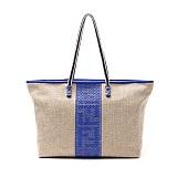 FENDI FENDI驼色织布女士肩包(蓝条) 8BH185 FCL FOQWG(织布)