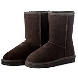 donessy中筒雪地靴 5825款(巧克力色)