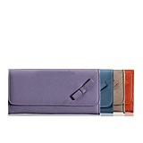 那沃(NAWO)2012新款欧美时尚淑女牛皮搭扣女士中长款钱包-满园II