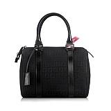 芬迪FENDI黑色织布女士手提包 A12003014